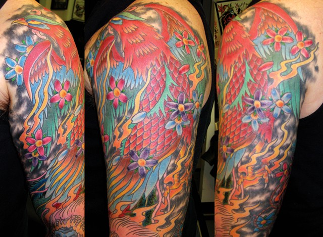 Phoenix Sleeve Tattoo