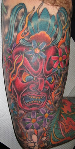 Red Mask Tattoo