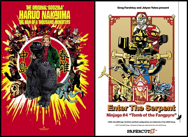 Ninjago and Nakajima posters