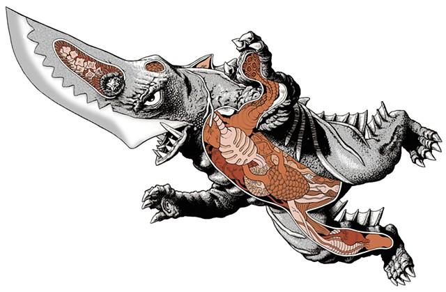Guillon or Guiron Gamera monster kaiju anatomy