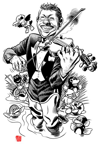 Violin Teacher caricature