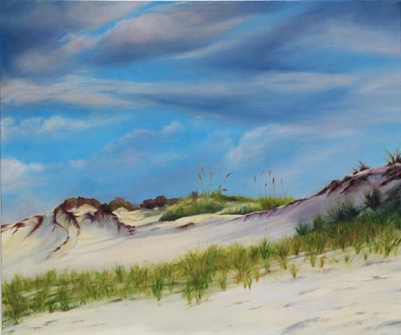 "Gulf Dunes, 2009, Oil on canvas, 20"" x 24"""
