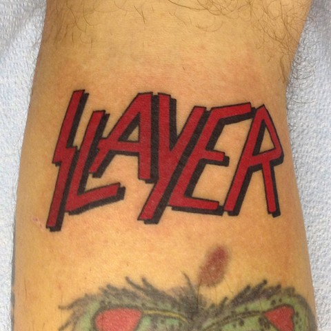 Slayer tattoo jeff hanneman kerry king tom araya