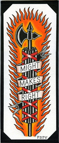 might makes right fasces painting tattoo