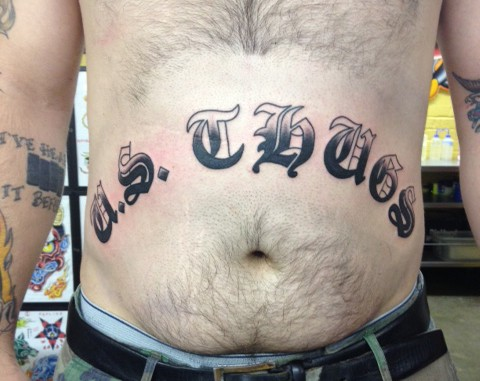 U.S. THUGS crew tattoo rancid h20