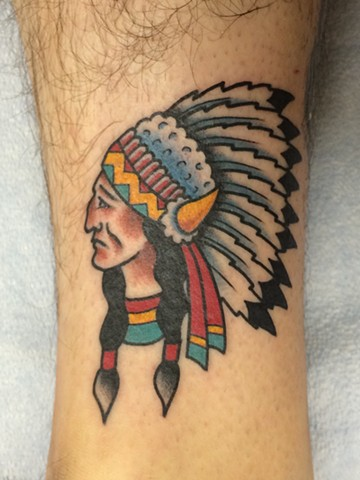 indian chief tattoo sailor jerry tad peyton