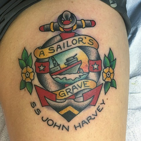 Sailor's Grave tattoo, Sailor Jerry tattoo, Tad Peyton tattoo, Jinx Proof Tattoo
