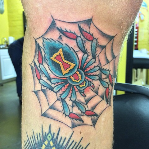 spider black widdow tattoo tad peyton
