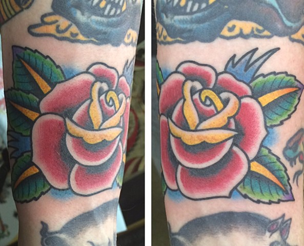 traditional rose tattoo tad peyton