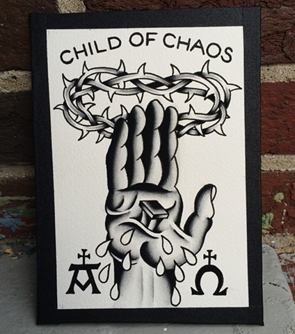 """Child Of Chaos"" painting"