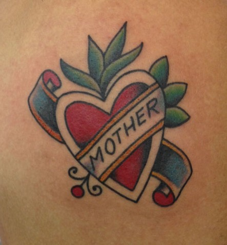 sailor jerry mom mother heart tattoo