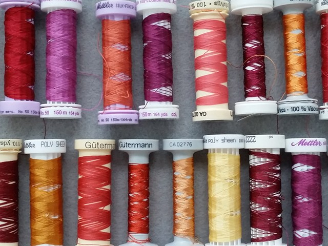 Colored spools