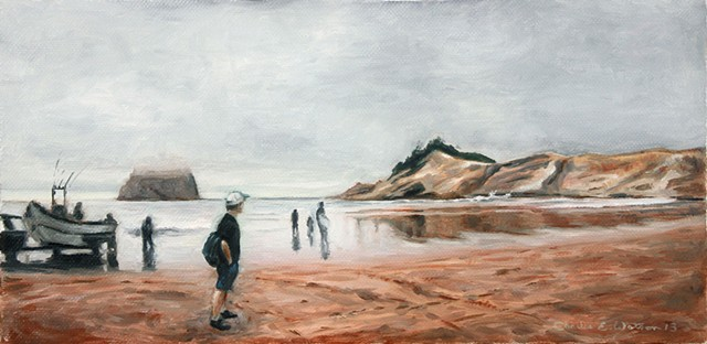 Pacific City Beach Oregon painting.