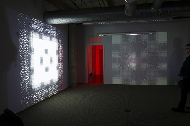 MFA Static Bustle Jon Vogt Thesis Artist Video Projection Installation Flicker Room