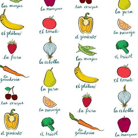 Katherine Codega Illustration - frutas y verduras