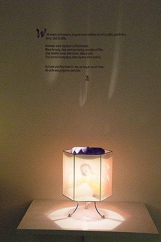 Michael Jackson Fairy Tale Lamp (detail of installation)