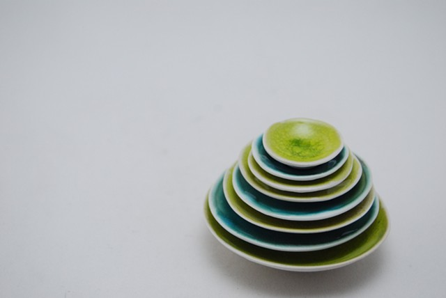 Cone 6 altered porcelain bowls