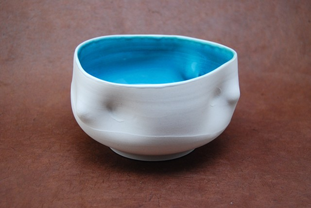Cone 6 altered porcelain bowl