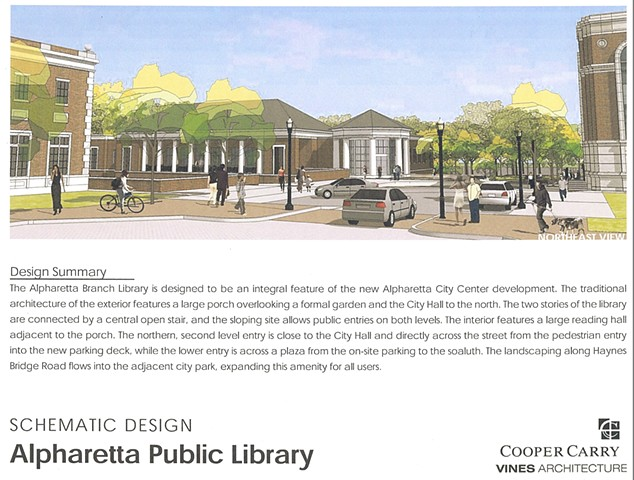 Alpharetta Library Project- Building Design