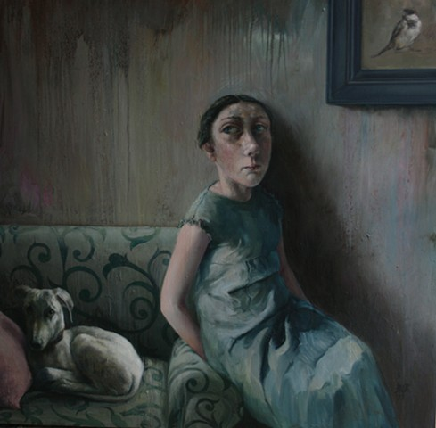 oil painting - currently in 'Reigning Cats and Dogs' at RWA Bristol