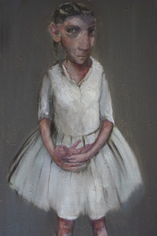 oil painting girl  doll Bobbie Russon
