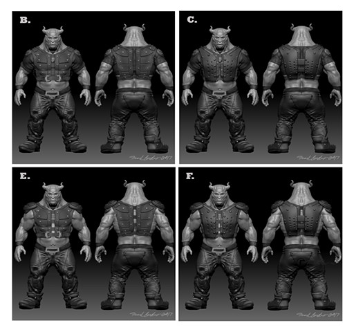 Alien Costume iterations
