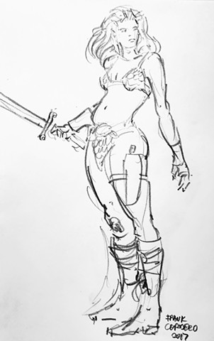 Red Sonja sketch v3