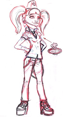 Checkout Girl Final Rough Concept variation