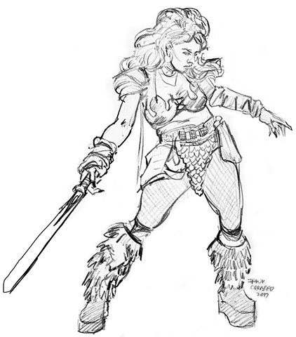 Red Sonja sketch