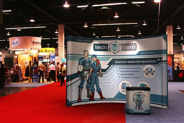 Tech Hero Trade Show PLA Early 3D mockup