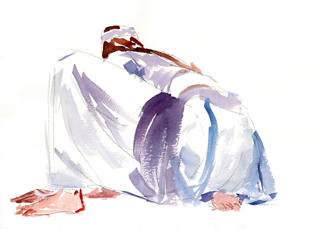 Female Martial Artist Crouched