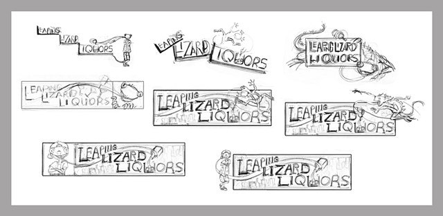 Leaping Lizard 2nd Pass Rough Sketches
