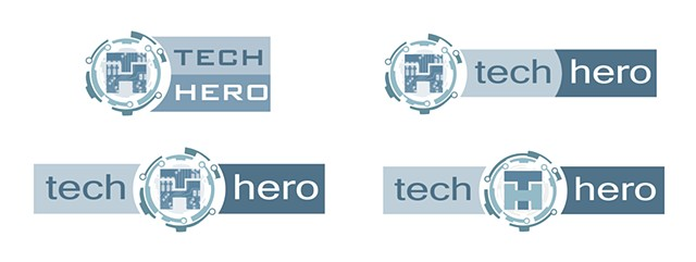 Tech Hero Logo Concepts 3rd pass