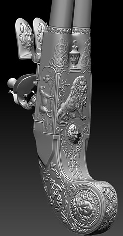 Flintlock Pistol Sculpt