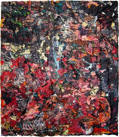 """ANGEL OTERO """"The dangerous ability to fascinate other people"""" collaged oil paint skins on canvas ANGEL OTERO """"The dangerous ability to fascinate other people"""" collaged oil paint skins on canvas"""