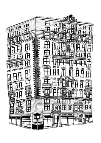New York City Series, 72nd and Amsterdam Av. Illustration by Dani Green