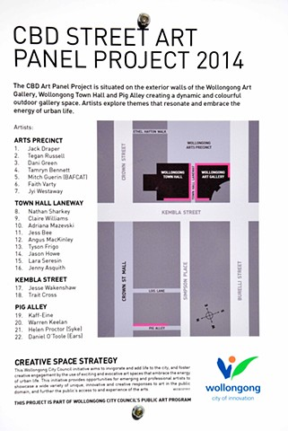 Wollongong City Gallery Panel Project 2014 /15