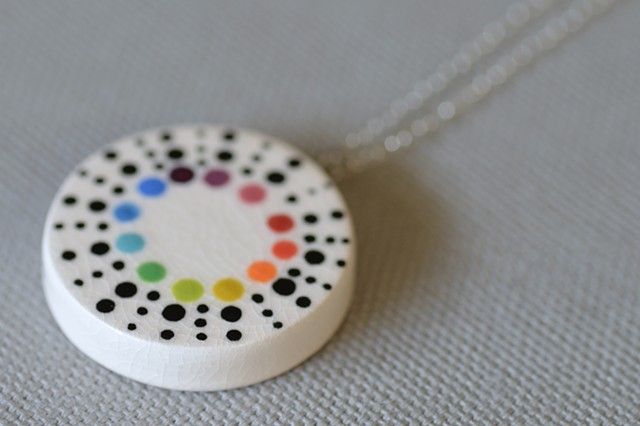 Colorwheel Dots, Large Necklace