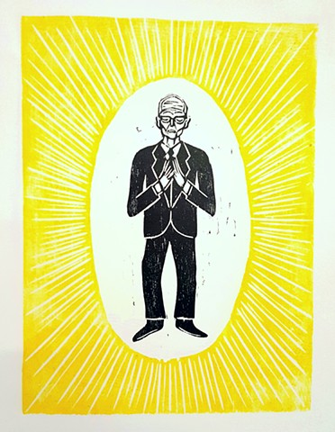 woodcuts printmaking brett douglas hunter folk art pop art outsider art buckminster fuller