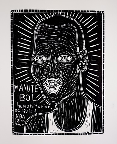 brett douglas hunter art prints woodcuts manute bol folk art pop art