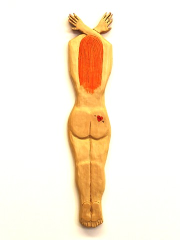 nude lady female folk art artist dow pugh howard finster brett douglas hunter pyrography