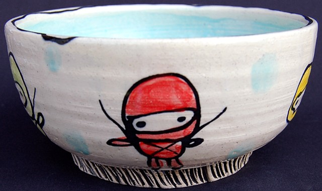 Ninja Party Thrown Bowl