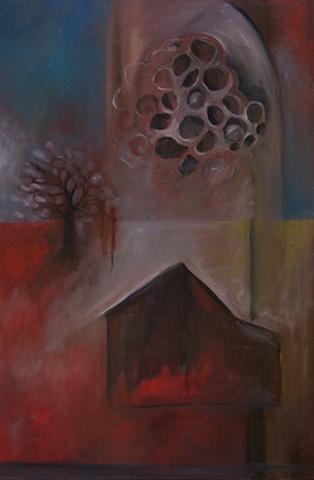 Nest, oil on canvas © Morgan J Norwood
