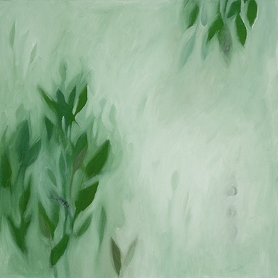 Verdant Morning, oil on canvas by Morgan Johnson Norwood