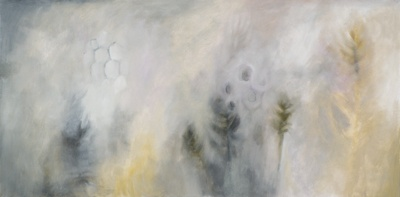 Phoenix, oil and charcoal on canvas by Morgan Johnson Norwood