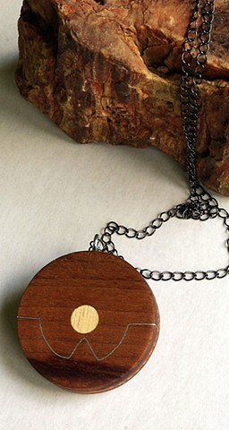 Where In The World Handcrafted Wood Pendant