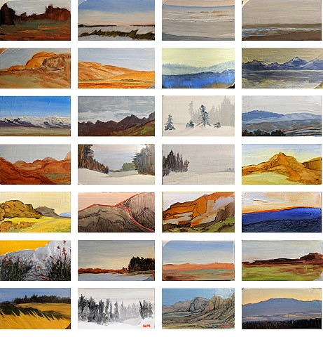Collection of 40 paintings