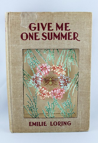 altered book, found book, Bees, Summer
