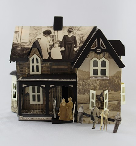 """Memory House,"" Book object with found photographs by Lesley Patterson-Marx"
