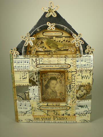 Found Book, altered book, Nashville, singer